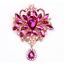 Betsey-Johnson-Big-Crystal-Rhinestone-Flower-Dangle-Charm-Women-039-s-Brooch-Pin thumbnail 6