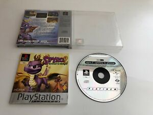 PS1-playstation-1-spyro-2-gateway-to-glimmer-No-Front-Label-Good-Condition