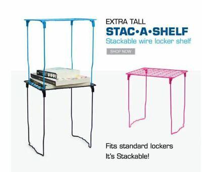Shelf Lockermate 12 Inch Tall Metallic Purple Pink Wire