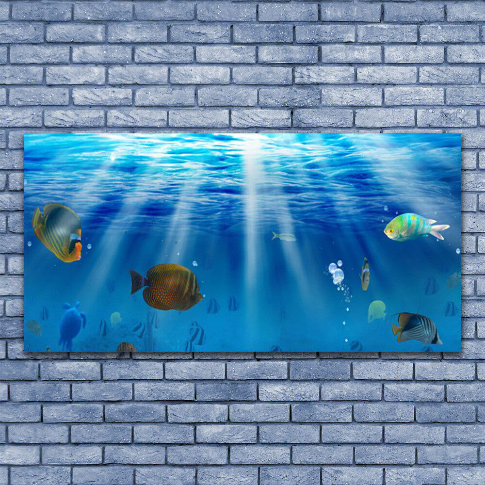 Glass print Wall art 140x70 Image Picture Fish Nature