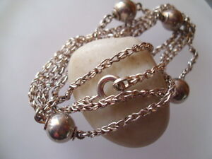 Moderne-Kette-Collier-mit-Kugeln-925er-Silber-Silberkette-Silbercollier