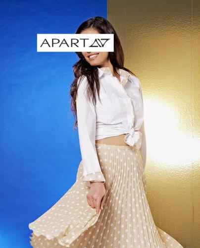 Kp 74,90 sale/%/%/% Apart blanc avec pois IMPRESSION NEUF!! blouse Un chemisier