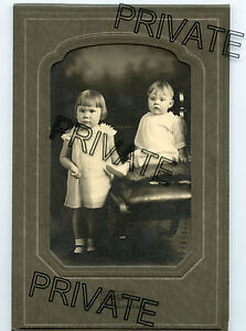 Antique Photo - 2 Cute Children - Seneca, Kansas - In Folder
