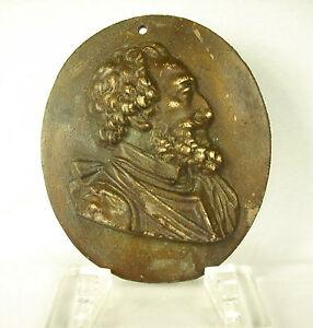Original Profil D'henri Iv De France Bourbon Dynastie Capétienne.ép. Xixe 21 Cm 1539 G