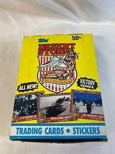 1991-Topps-Desert-Storm-Trading-Card-36ct-Full-Box-Unopened-Cards-Victory-Series