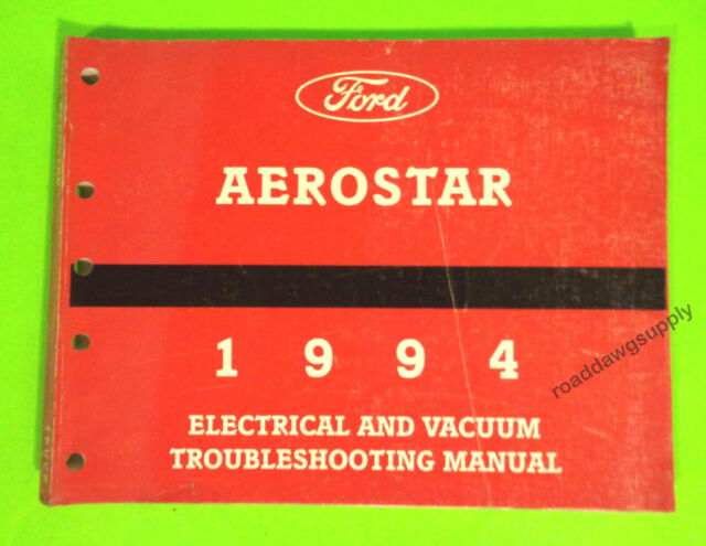 1994 Ford Aerostar Electrical Wiring Diagrams Service Shop Manual