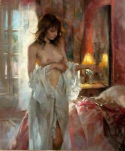 ZWPT638-charming-sexy-half-nude-lady-100-hand-painted-oil-painting-art-canvas