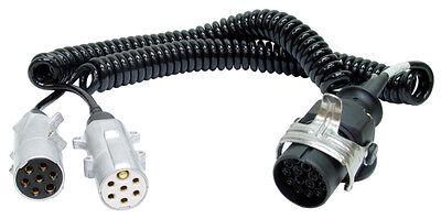 Stecker LKW Adapter coil cable MONARK Spiralkabel 15 pol Stecker auf 7 pol