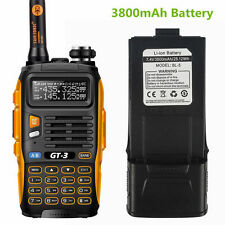 Baofeng GT-3 MARK II V/UHF Dual Band FM Ham Two way Radio With *3800mAh* Battery