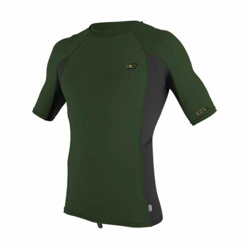 Dark Olive//Black O/'Neill Mens Premium Skins S//S Rash Guard