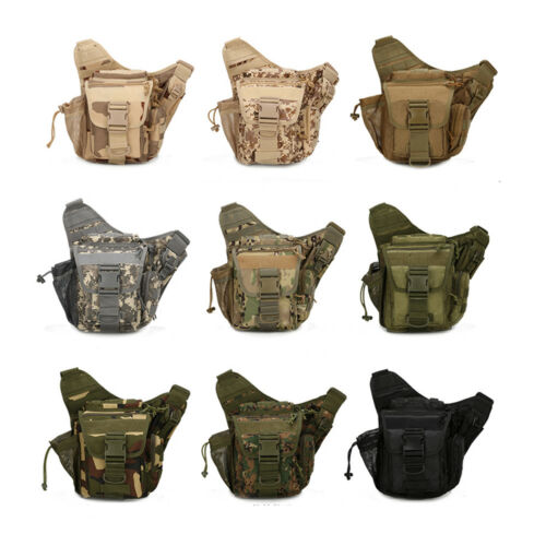 Tactical Shoulder Bag EDC Messenger Sling Pack Waist Bags Military Outdoor Pouch