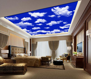 3D bluee Sky Clouds 719 Ceiling Wall Paper Print Wall Indoor Wall Murals CA Lemon