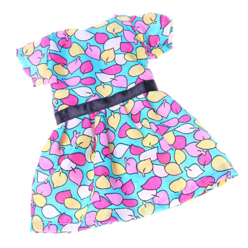 "Colorful Leaves Printed Dress Summer Party Outfit for 14/"" AG American Doll Doll"