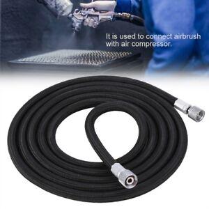 EVA-Braided-Airbrush-Hose-Air-Tube-1-8-034-1-4-034-Adaptor-Fitting-Ends-Coupling-1-8M