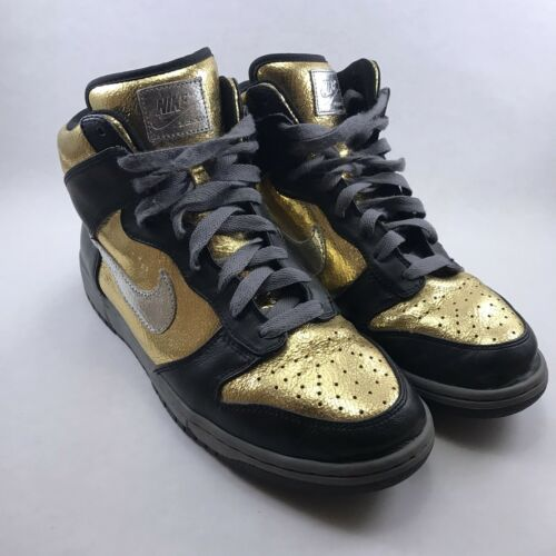 Nike ID Dunk High Men's 10 (Women's 11.5) Gold Bla