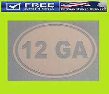 12 GAUGE OVAL DECAL STICKER 2nd Amendment Shotgun NRA Tactical Hand Guns CCW