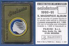 NUOVA//NEW N.1 SCUDETTO CALCIATORI PANINI 1990//91 ATALANTA