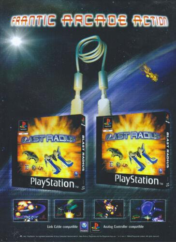 """Blast Radius /""""Playstation/"""" 1998 Magazine Advert #4334"""