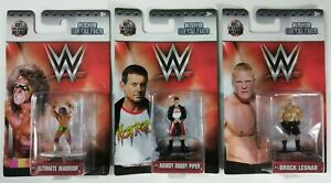 3-LOT-WWE-Nano-Metalfigs-Ultimate-Warrior-Rowdy-Roddy-Piper-Brock-Lesnar