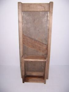 Antique-Primitive-Wooden-Kraut-Cabbage-Slaw-Cutter-Slicer-Shredder