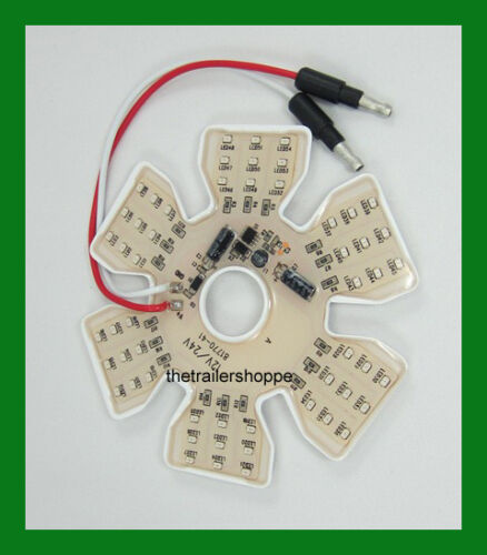 Ultra Thin Hex Air Cleaner Breather Interior Marker Light 54 LED Green