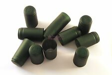 N°100 CAPSULE in PVC TERMORETRAIBILI 31x55 per bordolese verde metallizzato