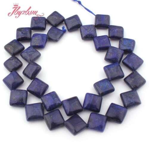 """10 mm 14 mm diagonal squareloose Grano Azul Lapislázuli para joyería haciendo 15/""""hágalo usted mismo"""