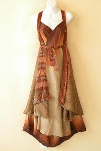 L977-Vintage-Silk-Magic-34-034-Long-Wrap-Skirt-Halter-Tube-Maxi-Dress-Bonus-DVD