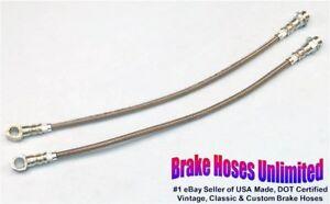 FRONT-STAINLESS-BRAKE-HOSES-Oldsmobile-Cutlass-Supreme-1985-1986-1987