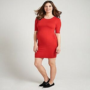 BRAND NEW WITH TAG RED MATERNITY TUBE DRESS    FREE UK POST