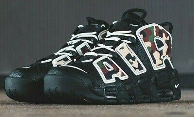 RARE NIKE AIR MORE UPTEMPO'96 QS SU19 Baskets, UK9, noircamouflage, CJ6122 001 | eBay