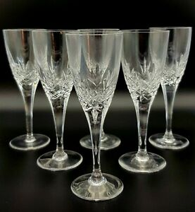 Six-Vintage-Lead-Crystal-Sherry-or-Small-Wine-Glasses