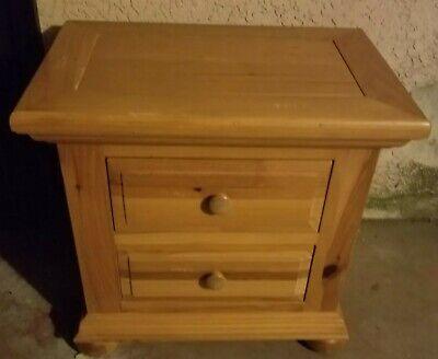 Bedroom Nightstand Honey Pine