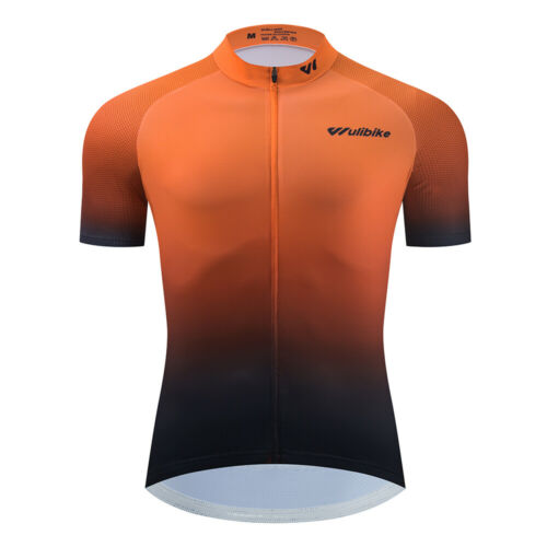 Mens ALL DAY Cycling Jersey Breathable Half Sleeve Racing Team Biking Top