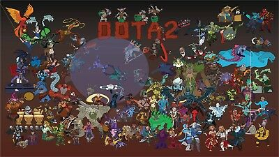 A4 A3 A2 A1 A0  DOTA 2 Defense Of The Ancients Steam Game Poster Print T651