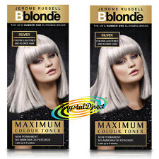 2x Jerome Russell BBlonde Silver Color Maximum Colour Toner 75ml Non Permanent
