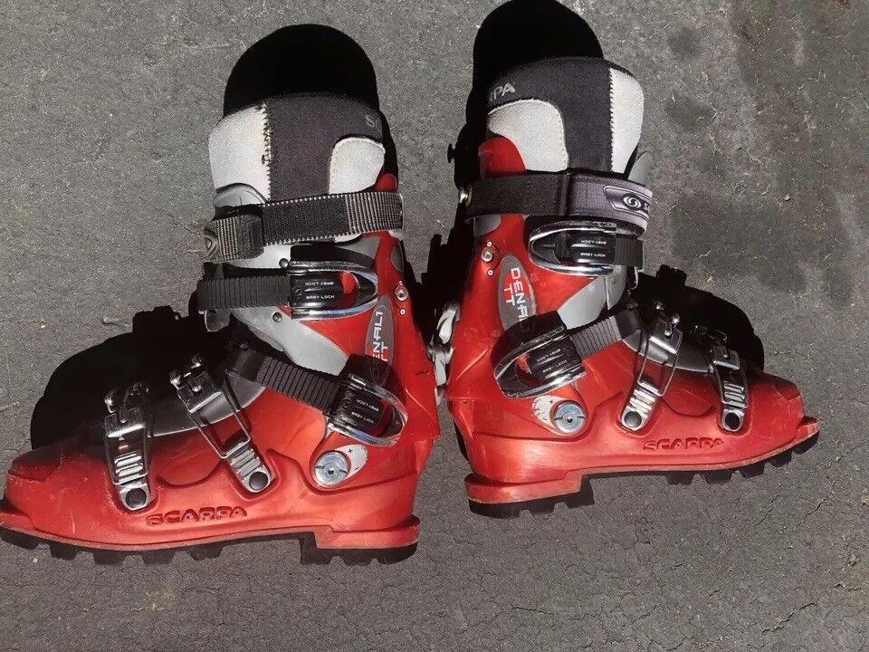SCARPA Denali TT Alpine Touring AT Ski Stiefel Größe 9.5 US 27.5 Mondopoint