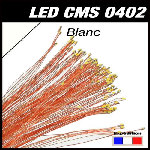 prewired LED C144W# LED CMS pré-câblé 0402 blanc fil émaillé 5 à 20pcs
