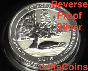 2018-S-REVERSE-Voyageurs-Island-90-Silver-Proof-Park-Quarter-Minnesota-New-ATB