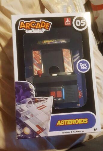 Arcade Classics Asteroids Mini Arcade Game Atari Machine Retro Handheld last one