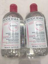 Bioderma Sensibio H2O Make-Up Removing Micelle Solution 16.7oz - 2 PACK DUO SET