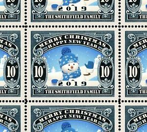 Details about Custom Christmas Stamps - Sheet of 25 - Gummed & Perforated  Sheet [REPRO]