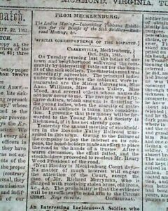 CONFEDERATE-CAPITAL-w-Battle-of-Bolivar-Heights-WV-1861-Old-Civil-War-Newspaper