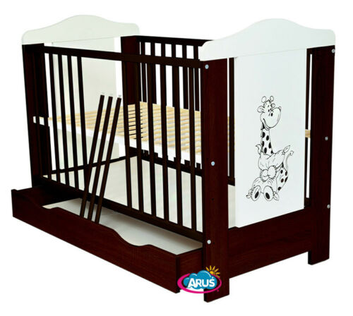"""JUNIOR BED VENGE//WHITE BABY COT WITH DRAWER /""""PATI/"""" //COT FOR BABY MATTRESS"""