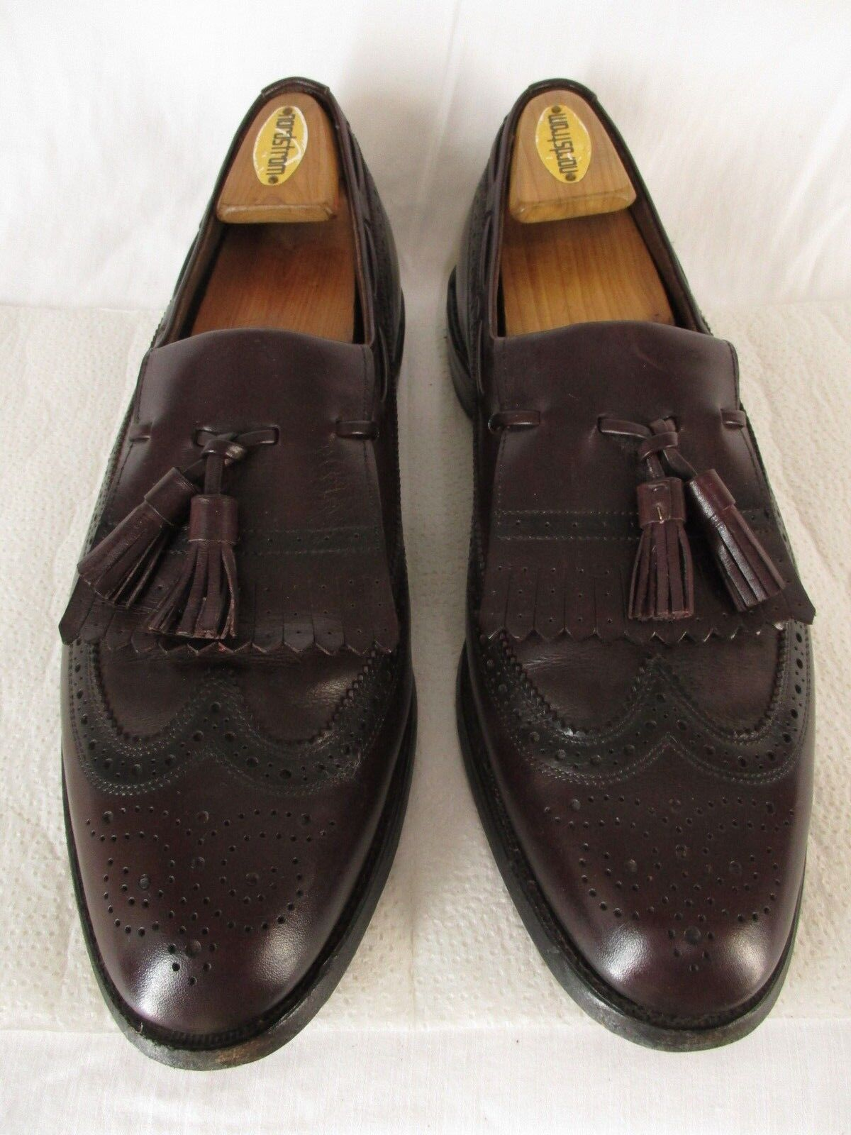 Allen Edmonds Arlington Mens Brown Longwing Kiltie Tassel Loafers 11B