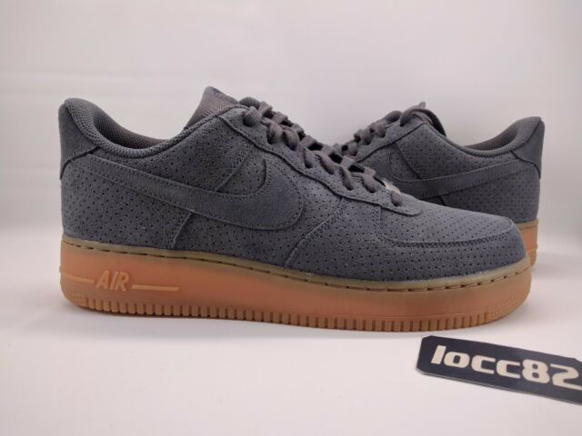 Nike Women's Air Force 1 '07 Suede sz 12 749263 001 Men 10.5 grey af1 gum sole
