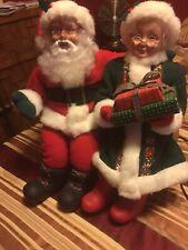 Vintage TELCO ANIMATED  MOTION-ETTE Xmas Santa & MRS CLAUS  Ho Ho Ho Merry Xmas