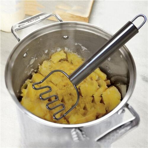 Kitchen Stainless Steel Potato Egg Masher Ricer Vegetable Fruit Crusher Tool LU