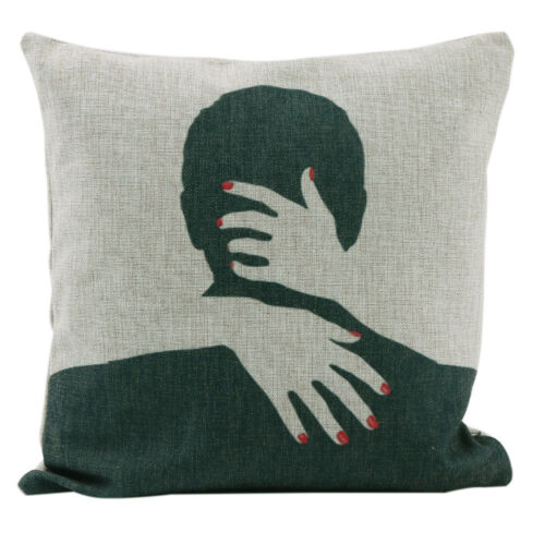 Fashion Romantic Lovers Style Cotton Linen Fashion Hug Pillow Case Cushion Cover