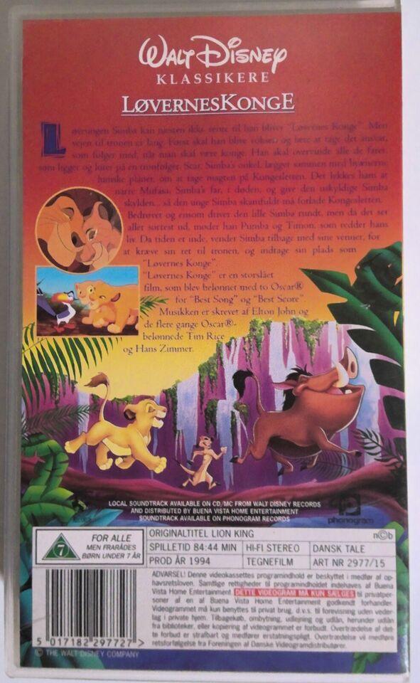 Familiefilm, 4stk Børne/Familie-Fim på VHS, instruktør